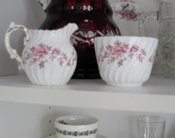 Vintage Sugar and Creamer - Aynsley Fine Bone China - Made in England