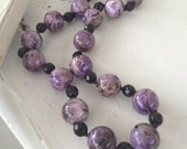 Long Purple Charoite Necklace