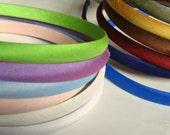 Dupioni silk plain headband 56 colours available to choose from