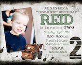 Tow Mater Birthday Photo Invitation 5x7 - Print Your Own