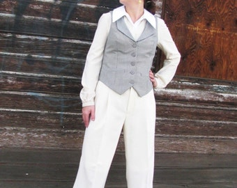 V-Back Vest and Pant Suits---Custom Made