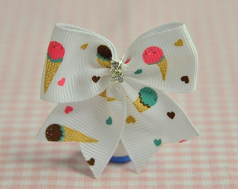 Set of 4pcs handmade Grosgrain Bow with rhinestones (GR1053)
