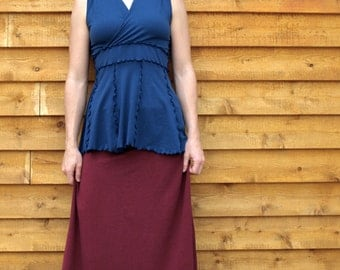 Organic Cotton & Hemp Ruffled Skirt