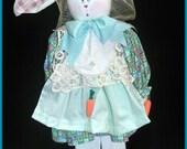 Holly O'Hare Me Fine Handmade Country Bunny Doll Decoration