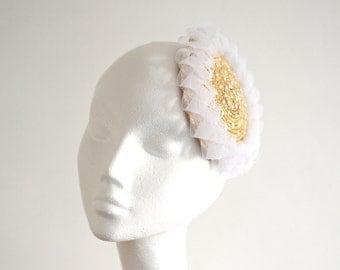 Pearl Straw Bridal Fascinator Mini Hat Millinery