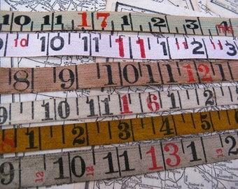 vintage measuring tape -  trim ribbon - ephemera - 1 yard