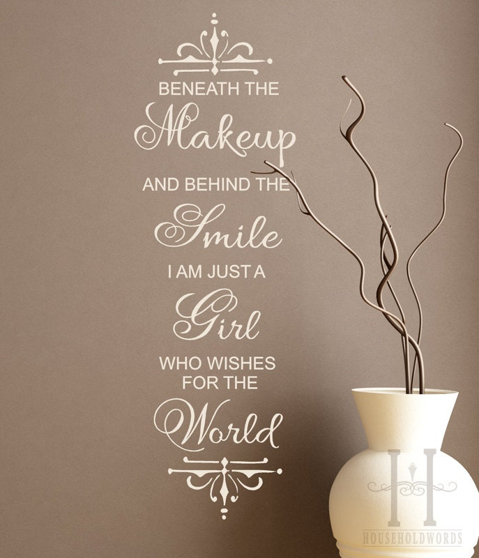 Teen Room Decor Marilyn Monroe Quote Wall Decal By