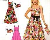 Simplicity 4265 Sun Dress and Bag Purse Size 8 10 12 14 16 18 Uncut Sewing Pattern 2006