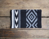handmade wool pouch zippered case - littlebyrdvintage