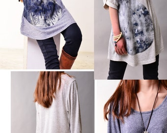 Drifting with cloud - zen tunic (Y3115)