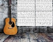 Lyrics Word Art Typography Wall Split Canvas of ONE Word Art image split (4) 10x10 canvas wall display