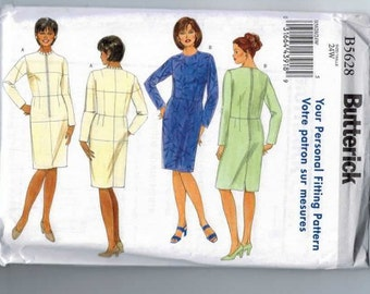 Womens Sewing Pattern Butterick B5628 Fitting Shell Toile Fit Pattern Dress Size 16W 18W 20W 22W 24W 26W Bust 38 40 42 44 46 48 UNCUT