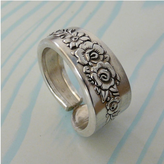antique silver spoon ring by revisions on etsy
