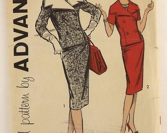 Vintage 60's Sewing Pattern, Double Breasted Suit-Dress, Size 12
