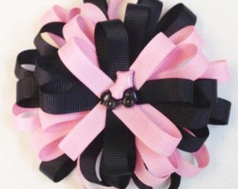 Girls Hair Bow Flower Loop Bow