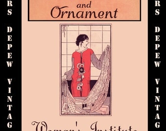Vintage Sewing Book 1920's Dress Decoration and Ornament Ebook How To for Embellishments -INSTANT DOWNLOAD-