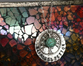 Tree of Life Hammered Necklace