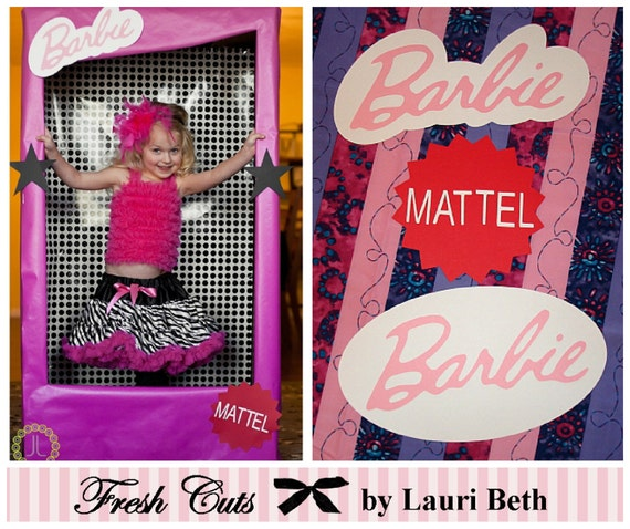 Barbie Inspired Box Life Size Photo Booth By Freshcutsbylauribeth