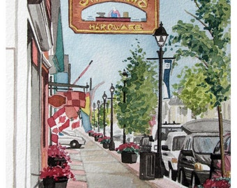 Water Street 5, St. Andrews, New Brunswick, Canada Reproduction Print