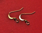 150 lead and nickle free Bright Gold or silver finish earwires fishook with ball open loop jewelry supplies findings ear wire