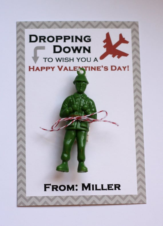Boy Personalized Paratrooper Valentine Card Dropping Down to – Boy Valentine Cards