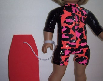 wet suit and boogie board fits american girl dolls