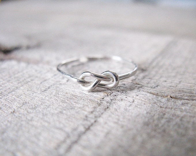 Infinity Ring Sterling Silver Stacking Ring Knot