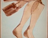 Lingerie/ Old Fashion Hose 1 by Gretchen Kelly