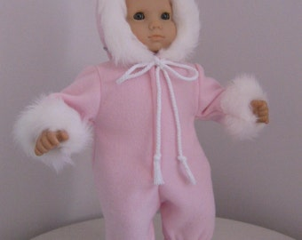 Doll Clothes-Made to Fit BITTY BABY and BITTY Twins Dolls,  Pink Polar Fleece Snowsuit Fits Bitty Baby and Bitty Twins Dolls