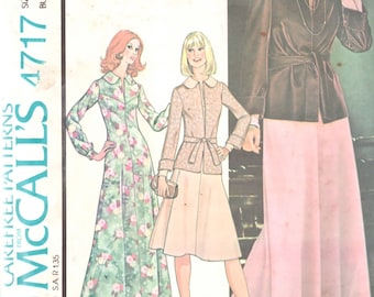 1970s McCalls 4717 Day and Evening Dress  and Jacket Pattern Womens Vintage Sewing Pattern Size 10 Bust 32 1/2