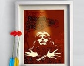 Print Queen music poster Birthday Gift art  Bohemian Rhapsody poster  - Queen illustration Freddie Mercury print canvas giclee