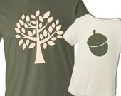 The acorn doesn't fall far from the tree matching daddy and baby tshirt or bodysuit ORGANIC gift set - great Father's Day gift