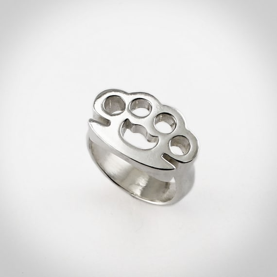Items Similar To Sterling Brass Knuckle Ring Men S Sz 9 13