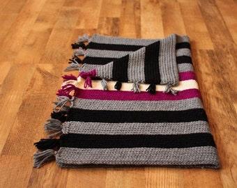 Knit Look Crochet Pattern - JM Crocheted Throw