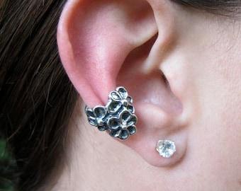 Flower Ear Cuff Silver Daisy Love Ear Cuff Daisy Ear Cuff Daisy Jewelry Flower Earring Daisy Earring Non Pierced Earring Fashion Ear Cuff