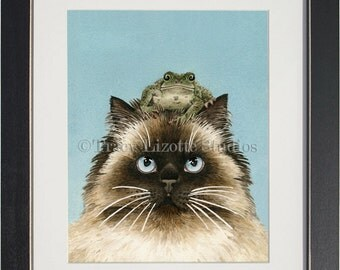 Hopping Mad - archival watercolor print by Tracy Lizotte