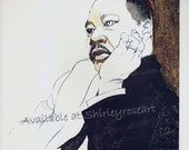 Dr. Martin Luther King Jr., 1969 Commerative poster. *Free Shipping.