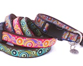"Med or Lg Personalized Dog Collar. 1"" width. Any Pattern, Name color, Size. Dog Gone It. Embroidered Dog Collar."