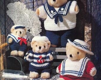 Super Easy Sailor Bears Crochet Pattern PDF