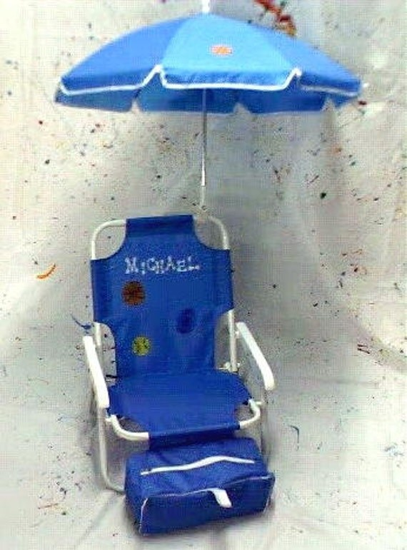 personalized beach chair umbrella for kids by dmzdesigns on etsy. Black Bedroom Furniture Sets. Home Design Ideas