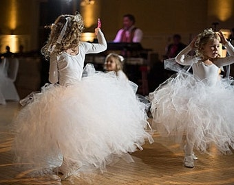 The Katherine - Classic Style Long length Tulle Skirt - SEWN and Super FULL Tutu - choose your colors and length - Flower girls, weddings