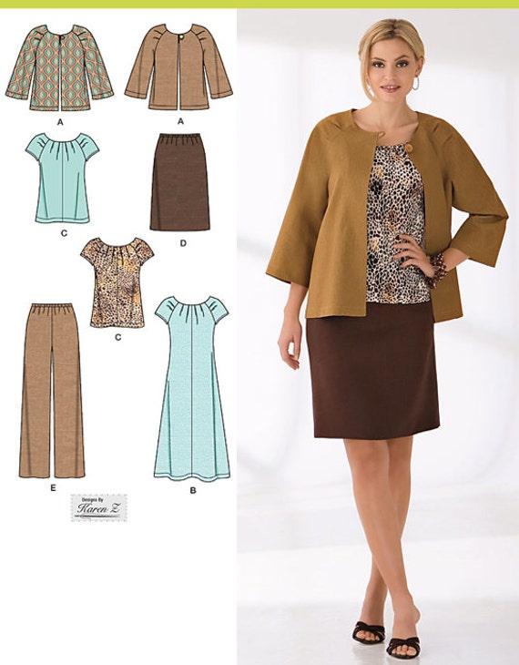 plus size womens wardrobe sewing pattern dress top