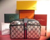 vintage GUCCI handbag CROSSBODY designer purse logo