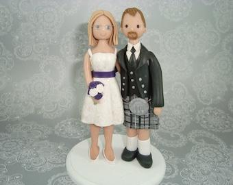Personalized Scottish Wedding Cake Topper