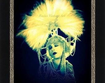 Salome - Giclee Art Print of Enhanced Vintage Photograph circa 1920 - Glamour Girl Wall Art