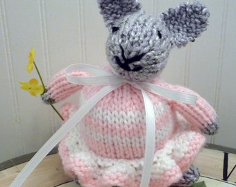 Hand Knitted Stuffed Bunny Rabbit