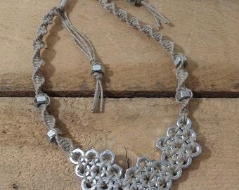 Hex Nut Necklace hemp
