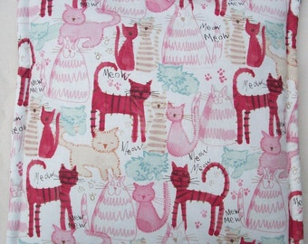 Catnip Filled Cushion - Pink Kitty Doodles Cat Bed - 16 3/4 inches by 16 3/4 inches - Pets