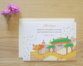 San Francisco Thank You Cards Package  - Chinatown