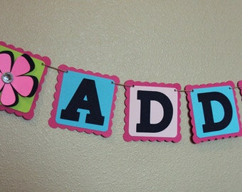 Custom Made Party Name Banner